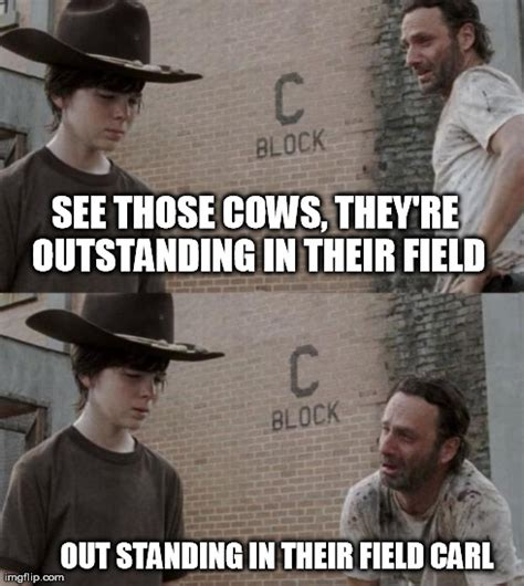 Rick And Carl Meme - those cows carl imgflip