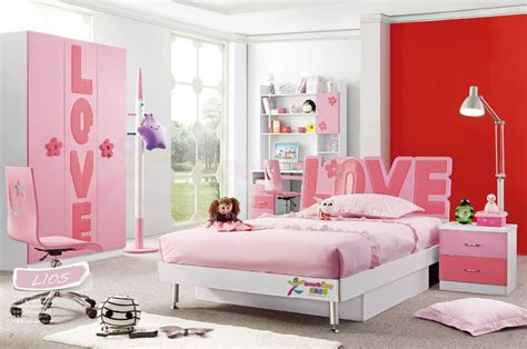 pink bedroom sets hot sale china modern lovely kid sets furniture girls