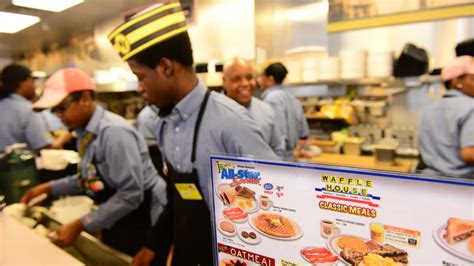 scattered smothered and delivered waffle house enters
