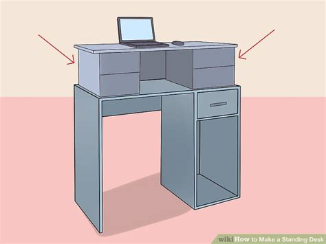 how to make a standing desk 12 steps with pictures