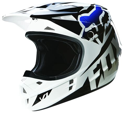 fox helmet motocross fox racing v1 race helmet revzilla