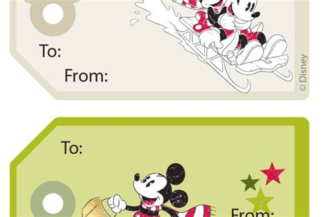 disney holiday gift tags mickey friends gift tag stickers disney family