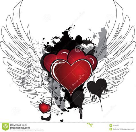 imagenes de corazones goticos con alas corazones y alas