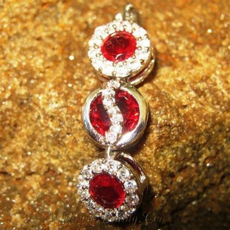 Liontin Ruby Silver 925 liontin silver 925 dengan batu permata top garnet