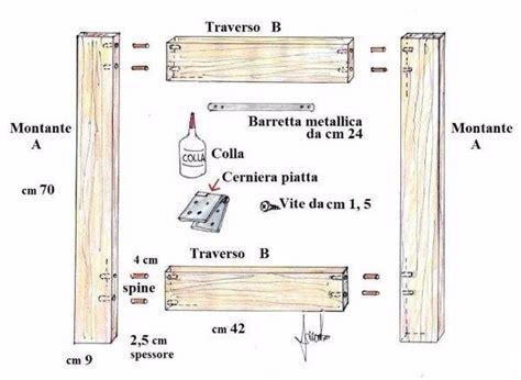 progetto scrivania fai da te tavolo su misura con i cavalletti