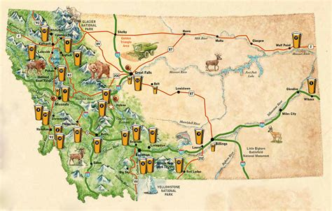 breweries map lc1429 jeff whiteside