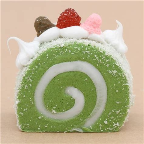 Squishy Roll Cake green roll cake with magnet squishy kawaii food
