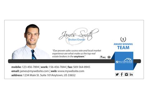 Real Estate Email Signature 04 Real Estate Email Signature Template 04 Real Estate Email Signature Templates