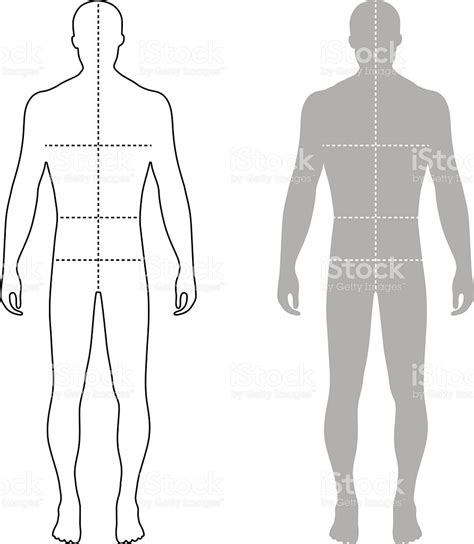 design by humans template fashion man outlined template figure silhouette with