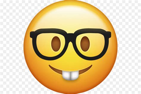 emoji iphone smiley nerd sticker nerd png