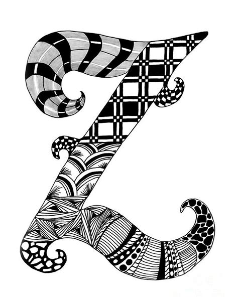 Letter Z Drawing by 17 Best Images About Projects Zentangle Letters On