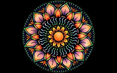 imagenes fondo de pantalla mandalas mandala de la flor de naranja fondos de pantalla mandala