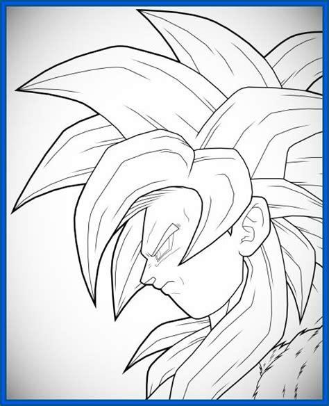 imagenes de goku fase 4 para dibujar grandiosas imagenes para colorear de goku dibujos de