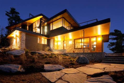 modern home design ontario casa moderna junto a un lago en canad 225