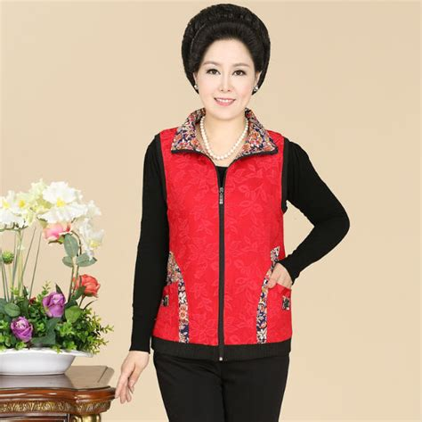 middle age mom fashion zip vest fashion middle age mother waistcoat spring autumn