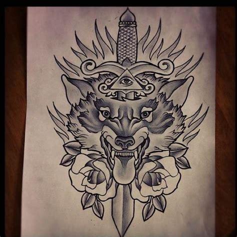 old school wolf tattoo design tattoos skull tattoos old school wolf tattoo wolf tattoo