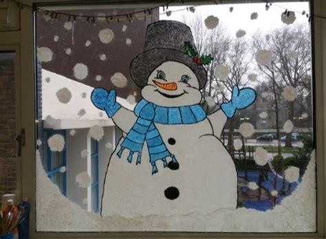 Fensterdeko Weihnachten Kleinkinder by Schneemann Fensterbild Winter Fensterbilder Basteln