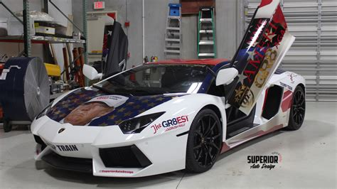 rally lamborghini lamborghini trumpventador the trump wrapped aventador