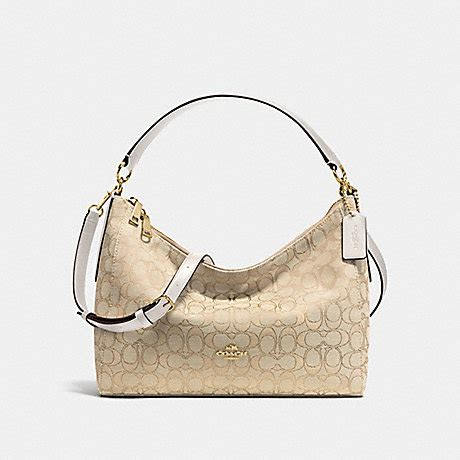 coach f58284 east west celeste convertible hobo in outline signature handbags coach anyhandbag