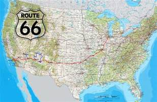 image gallery historic route 66 map