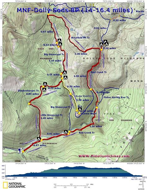 dolly sods map dolly sod south wilderness backpack hiking trail near