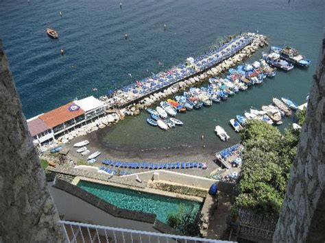 Bagni Delfino Sorrento by Restaurant Is The Furthest Left Of The Pier Picture Of