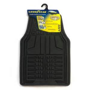 goodyear premium rubber front mats with basin