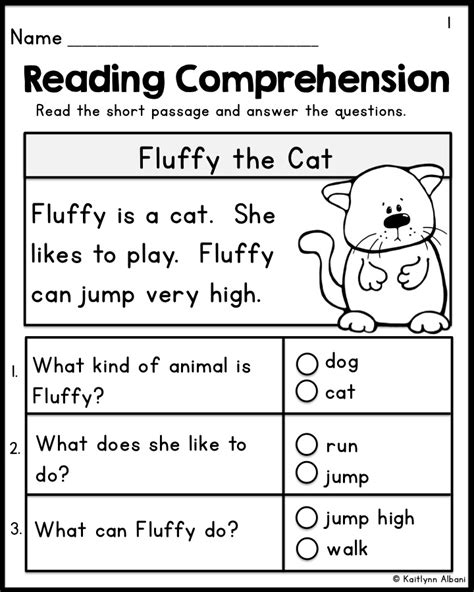 activities for kindergarten reading kindergarten reading comprehension passages set 1
