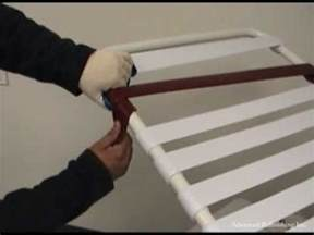 Vinyl Straps For Patio Furniture Repair by Double Wrap Vinyl Strap Installation Youtube