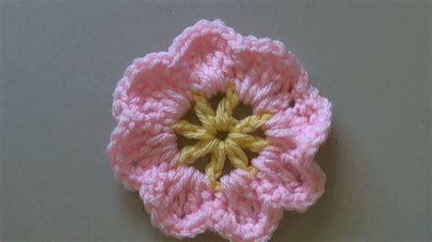 knitted flower pattern youtube how to crochet a flower tutorial easy primrose flower