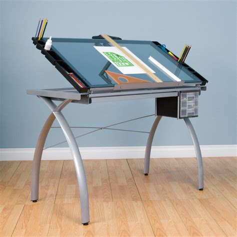 Glass Drafting Table With Light Home Design Ideas And Glass Drafting Table With Light