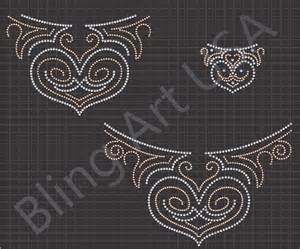 how to make rhinestone templates rhinestone neckline bling template patterns design