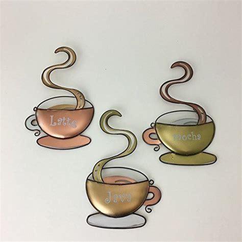 coffee wall decor coffee house cup design mug latte java mocha metal wall