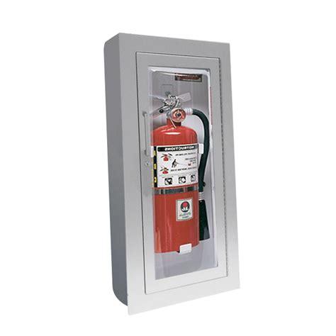 jl industries fire ext cabinets jl clear vu 1527g25 semi recess mounted aluminum 10 lbs