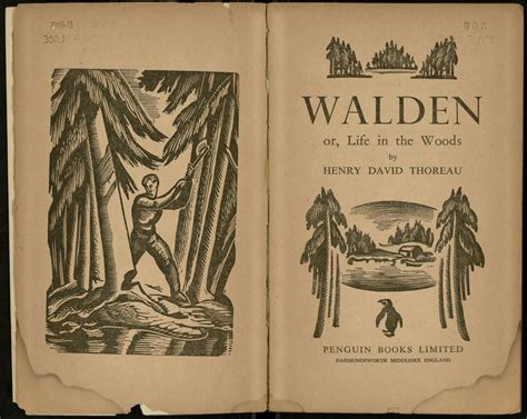 walden classic book quot walden quot by henry david thoreau 1938 seeking a new high