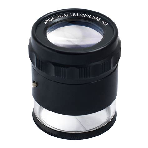 Loupe Light adox precision loupe 10x with built in led ring light