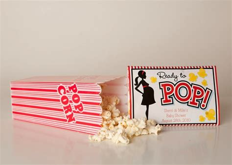 Baby Shower Popcorn Wrappers by Baby Shower Popcorn Wrappers Birthday Popcorn