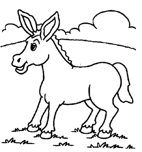 Donkey Coloring Pages Preschool | free printable donkey coloring pages for kids