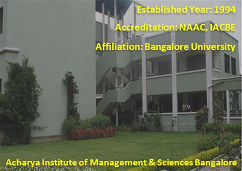 Acharya Institute Of Management Mba by Top B Schools In Bangalore List Top Mba Colleegs
