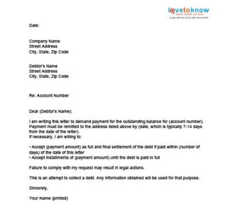 Sle Letter For Credit Card Settlement Bebt Settlement Letter Template Free Printable Documents