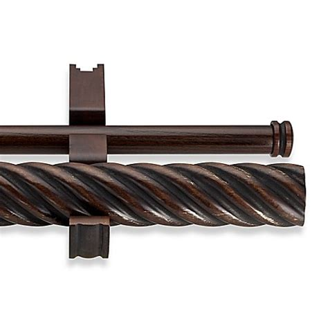 cambria wood curtain rods cambria 174 estate wood double twisted curtain rod in