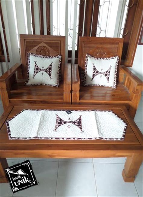 sarung bantal kursi batik blaco motif klasik bordir set