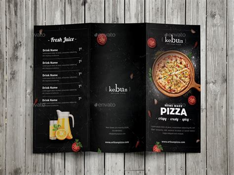 pizza menu 3 fold by monogrph graphicriver