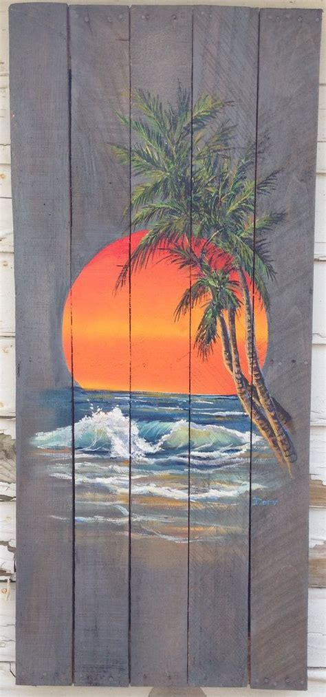 tree painted on wood ideas en iyi 17 fikir palm tree paintings te tuval resimleri ve manzara resimleri