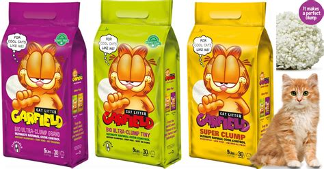 garfield cat 3 pack 4 garfield cat litter 3 pack only 4 95 6 95 shipped up to