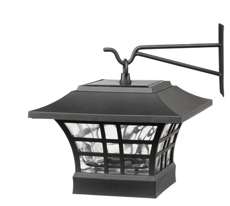 Solar L Post Home Depot Canada by Hton Bay 2 Pack Solar Led Deck Post With Hanging Option
