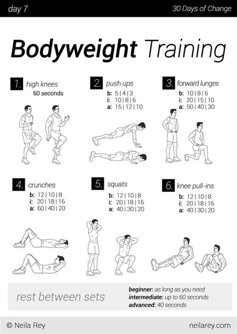 30 day workout plan for men at home no equipment 30 day workout program the best article