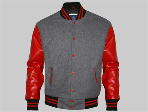 design varsity jacket cheap cheap letterman jackets made of grey wool and genuine