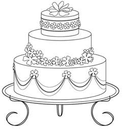 wedding cake coloring pages coloring pages toddlers