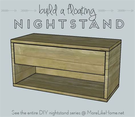 Floating Nightstand With Drawer by More Like Home Nightstands Day 9 Floating Nightstand